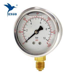 Boitier en acier inoxydable de 60 mm raccord en laiton type bas manomètre manomètre 150 psi rempli d'huile