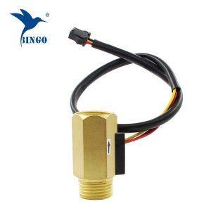 """1/2 """"dn15 débit d'eau en laiton hall turbine capteur de débitmètre interrupteur contrôle le débit d'eau liquide"""