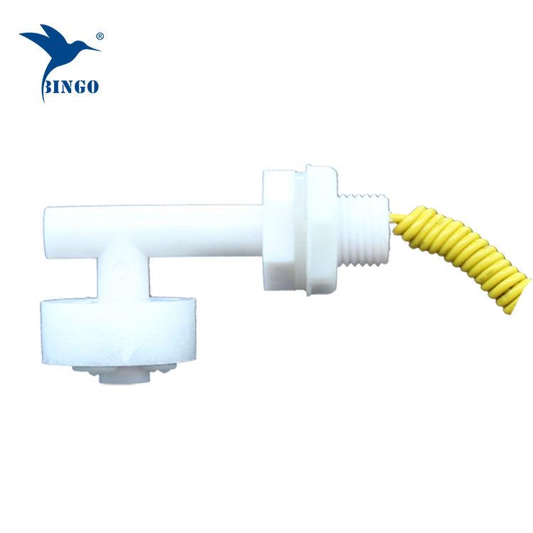 Interrupteur à flotteur en plastique en forme de mini L horizontal pour réservoir d'eau