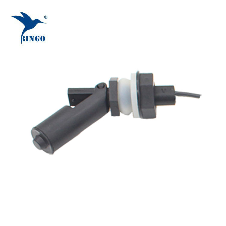 Interrupteur à flotteur électrique horizontal noir avec raccord fileté M16 pour distributeur d'eau