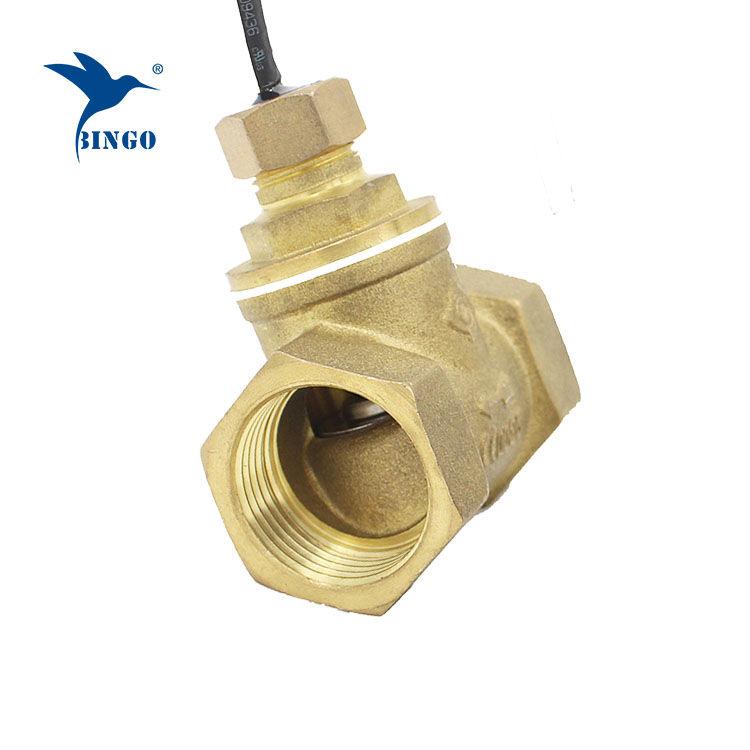 Détecteur de débit en laiton cuivré type pagaie