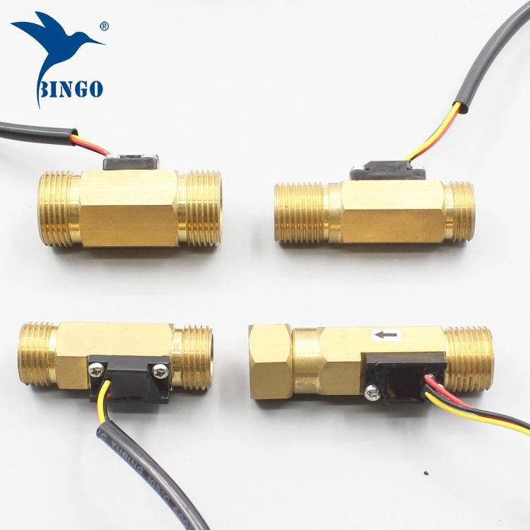 Détecteur de débit d'eau G12 Détecteur de débit d'eau liquide à effet Hall en cuivre